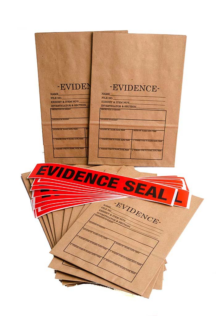 Small Evidence Bags And Seals 10 Pack